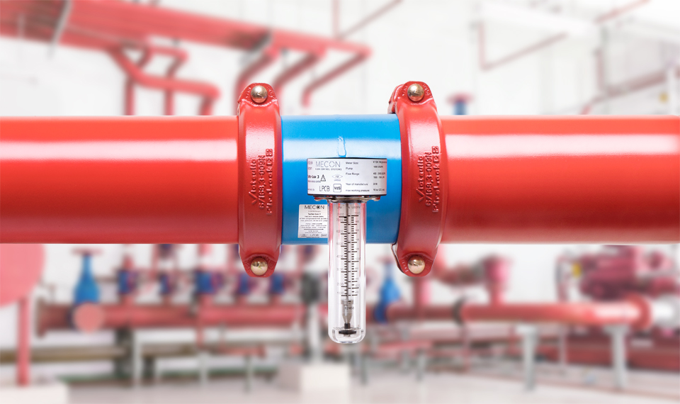 Image: Flow meters for sprinkler systems